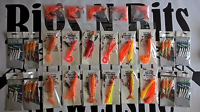 25 Sea fishing Boat rigs High Quality professional rigs 4 drift and wreck Orange