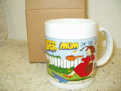 NIB AVON Gift Collection Message for Mom Mug - Mom ON the Go Mother's Day 1995