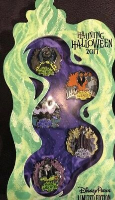 2017 Disney Parks Haunting Halloween Pins Pin Box Set NEW