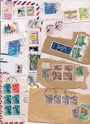 52 ISRAEL stamps on paper.