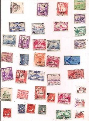 37 PAKISTAN official stamps.