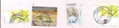 4 NAMIBIA stamps.