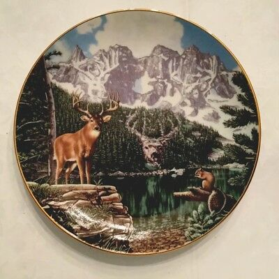 Emerald lake WILDERNESS REFLECTIONS Deer John Van Straalen Danbury Mint Plate