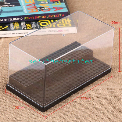 New Acrylic Display Box Case For Minifigures Plastic Black/Grey/White Block