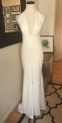 0c8f82be589 Lulus Time Out of Mind Ivory Halter Wedding Bridal Maxi Dress S M Gown  Formal