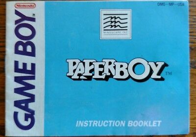 Paperboy - Instruction Booklet for Nintendo Game Boy - Manual ONLY