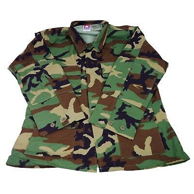 Camouflage Military Issue Coat Jacket Woodland Combat Field US Army Hot Weather