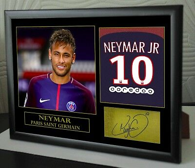 Neymar Tribute PSG Signed Framed Great Gift