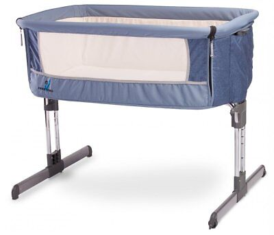 Beistellbett Baby Reisebett Caretero Sleep2gether Navy incl. Matratze