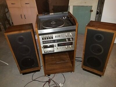 lxi stereo system with record player, cassette deck and speakers