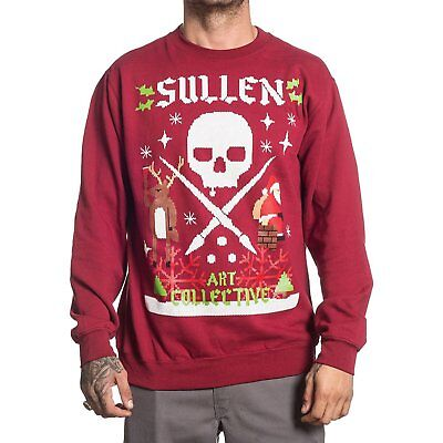 nwt sullen mens santa ugly christmas fleece sweater red large
