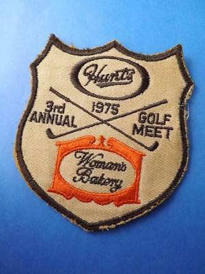 Huunt's Foods Employee Golf Meet 1975 Womans Bakery Patch Crest Collector