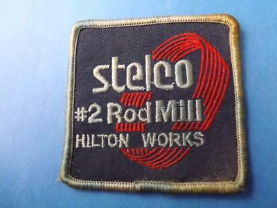 Stelco Steel Plant  Rod Mill Hilton Works Uniform Patch Vintage Collector