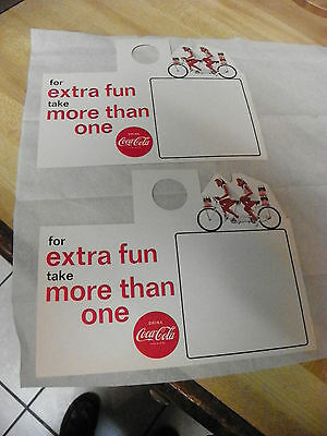 "2-Vintage 1963 Coca Cola  Bottle Toppers "" For extra fun take more than one """