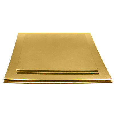 """5 x Cake Boards S quare 0.10"""" thick Decoration kitchens, restaurants, bakeries"""