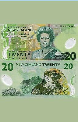 NEW ZEALAND 20 Dollars Banknote World Money Currency  Bill
