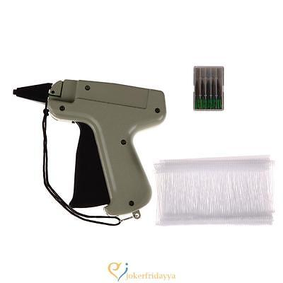 "Clothes Garment Price Label Tagging Tag Gun 3""1000 Barbs + 5 Needles  #JD"