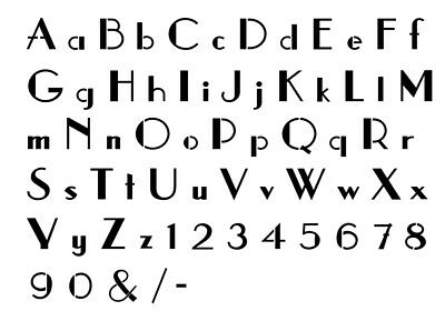 Alphabet Letter stencil #131  A - Z & numbers  2, 3, 4, 5 or 6cm sizes FREE POST