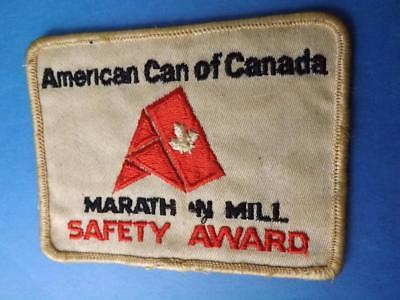 American Can Of Canada Narath N Mill Safety Award Uniform Patch Collector