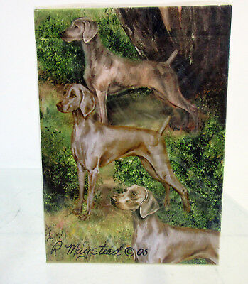 Weimaraners Dog Poker Playing Card Set of Cards By Ruth Maystead Weimaraner
