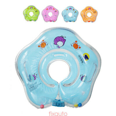 Cute Infant Neck Collar Swimming Ring Inflatable Neck Float For Baby Kids BDE4