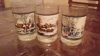 Vintage Arbys Courier and Ives Glasses