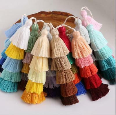 5 layer cotton Tiered Earrings tassels Pendant jewelry Making Accessories