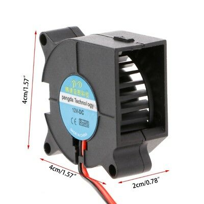 DC 12V 40mmx40mmx20mm 2-Pin Brushless Cooling Cooler Centrifugal Blower Fan 4020