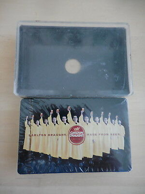 Carlton Draught Made From Beer Advert Playing Cards Unopened In Plastic Case