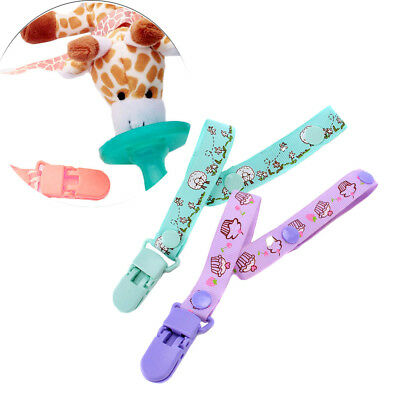 Newborn Teething Baby Soother Holder Pacifier Clip Nipple Strap Dummy Chain