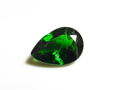 10x7mm RUSSIAN CHROME DIOPSIDE faceted LOOSE GEMSTONE from natural rough