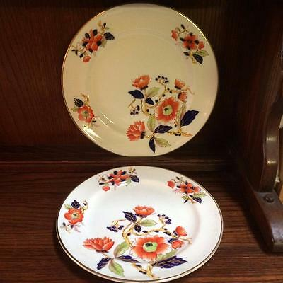 2 X Antique Hand Painted Imari Plates