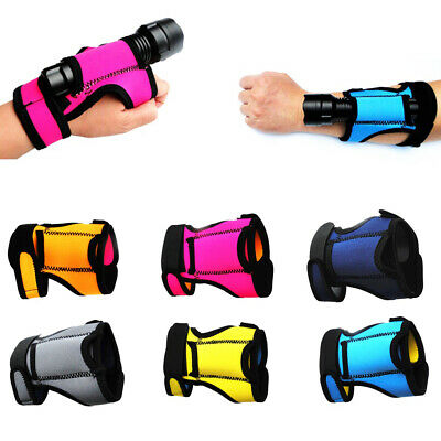 Neoprene Outdoor Scuba Diving LED Torch Flashlight Holder Hand / Arm Mount Glove