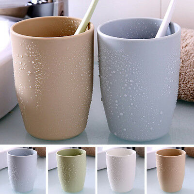 4 Color Double Wash Gargle Cup Tooth Mug Toothbrush Toothpaste Holder Round DIY