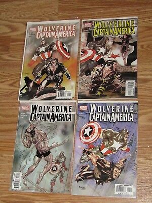 Wolverine/Captain America #1 2 3 4 complete series - tom derenick - marvel