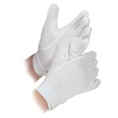 SHIRES NEWBURY gloves ADULTS WHITE 880 horse rider grip gloves cotton XS - XL