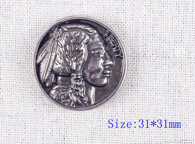 """5pcs 1 - 1/4 """"Supper Quality Antique Silver Nickel Indian Head Screw Back Concho"""