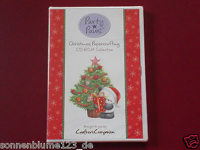 Crafters Companion Party Paws Christmas Papercrafting CD-ROM Collection NEU/OVP