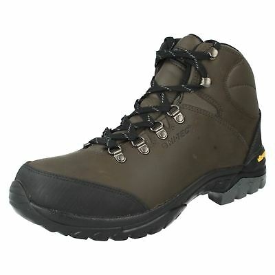 Hi-Tec 'Jura' Ladies Dark Chocolate Leather Waterproof Walking, Hiking Boots