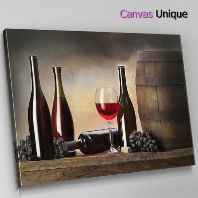 AB1054 Red Wine Modern Minimal Abstract Wall Art Picture Large Canvas Print