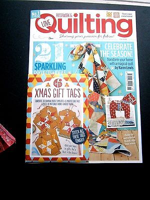 Love Patchwork & Quilting Issue 15 Magazine  2015 With Free Gift (new)