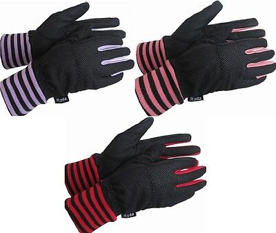 Ryda Ladies Lined Thermal Winter Horse Riding Gloves Windproof 3 Sizes New