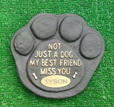Dog Large Pet Memorial/headstone/stone/grave marker/memorial laser plaque oval