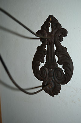 Antique Victorian cast iron metal plant hanger wall hook