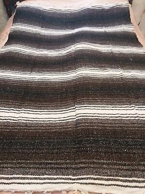 Beautiful Native american woven blanket -  52 by 75 inches - various colors