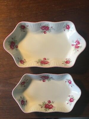 Crown Staffordshire Sweetheart Rose Tray Set