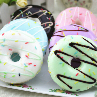 Jumbo 8CM Squishy Soft Donut Cream Scented Phone Charm Key Bag Chain Strap Toys