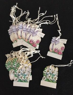 30 Vintage Easter Holiday Gift Tags 1950's - 1960's Two Designs In Un Used