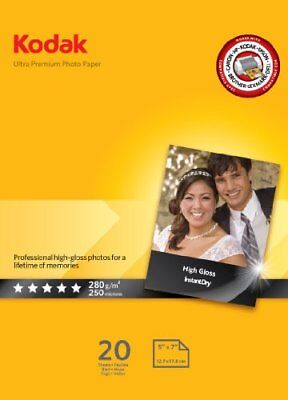 PAPEL KODAK PREMIUM PHOTO PAPER RC GLOSS 13x18cm (20 UDS) 280G