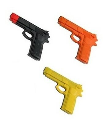 """7"""" RUBBER TRAINING GUNS SET OF 3 Police Dummy Non Firing Real Look and Feel"""